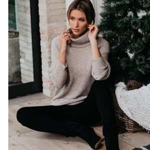 SHAYLA Cowl Neck Sweater